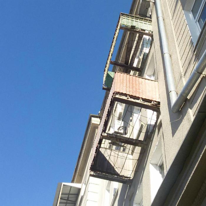 Опасные балконы.