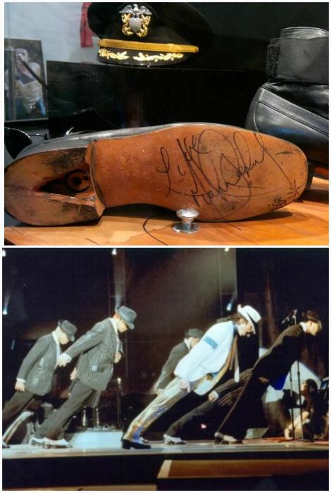 Знаменитый наклон Майкла Джексона.