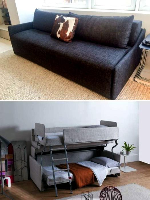 Трансформирующийся диван. | Фото: stroysam-karpinsk.ru.