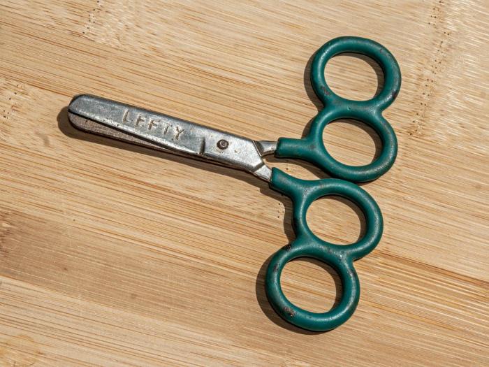 Ножницы с необычными ручками. | Фото: STENA.ee.