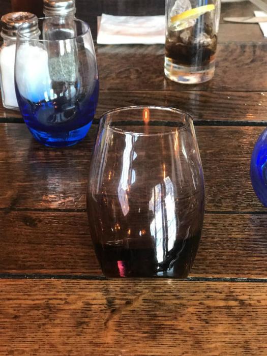 Странное положение стакана.