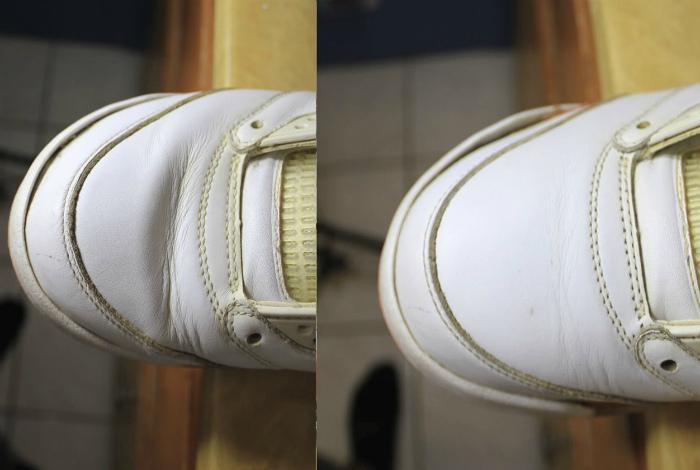 Расправляем заломы на обуви. | Фото: Small Joys.