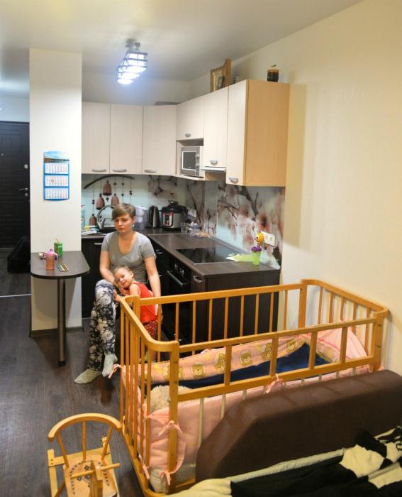 Квартира-студия для семьи с ребенком. | Фото: ru.net.