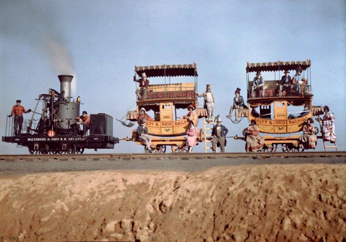 Первый пассажирский поезд 1830 год.
