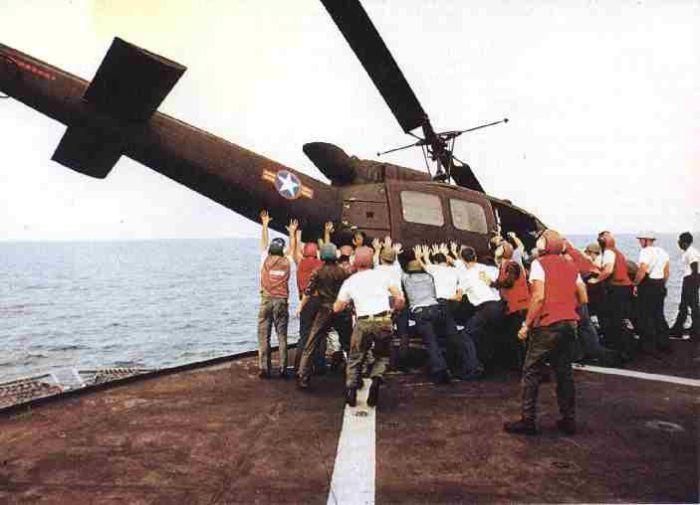 1975 год. Операция «Частый ветер» - эвакуация персонала из Сайгона.