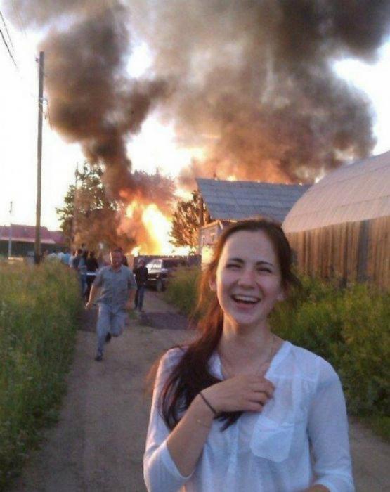 Пожар - не повод для огорчения. | Фото: fishki.net.