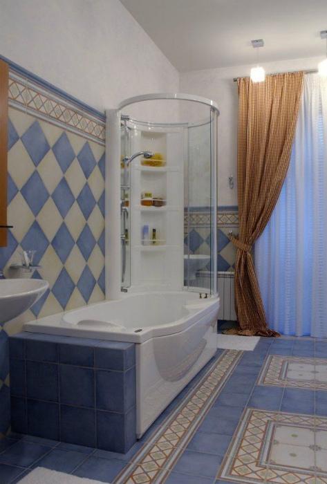 Ванная комната с комбинированным гидробоксом.