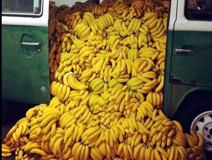 В бананах содержится небольшое количество радиации.