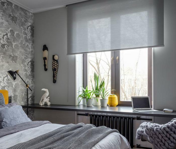 Легкие шторы для маленького помещения. | Фото: GD-Home.