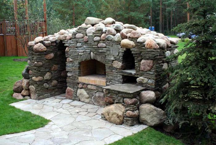 Каменная печь.