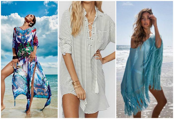 Пляжные туники и платья.