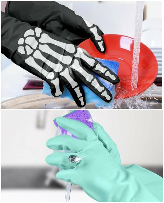 Стильные резиновые перчатки. | Фото: Со Вкусом, Pinterest.