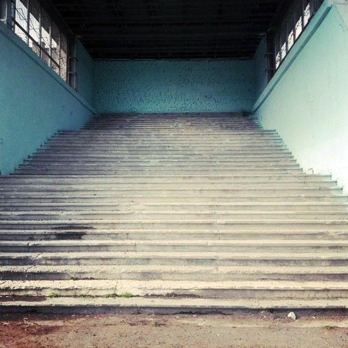 Лестница в стену.