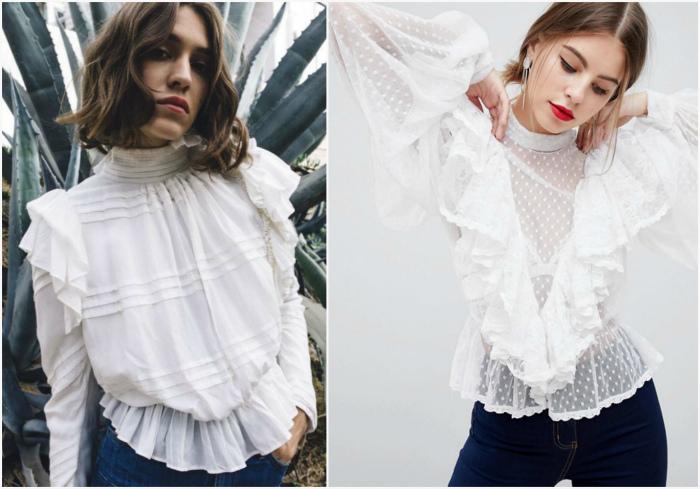 Романтичные блузы в викторианском стиле. | Фото: Westsharm.