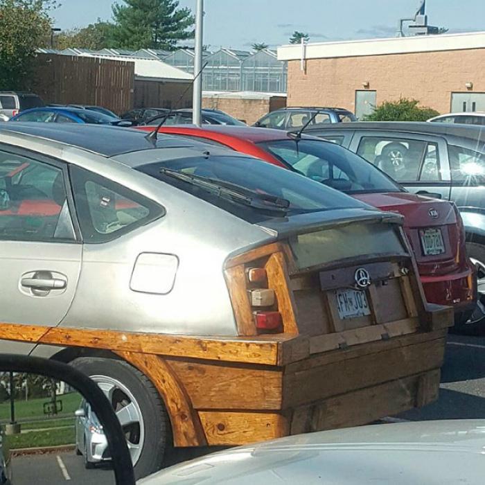 Деревянный бампер.