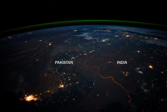 Граница Пакистана и Индии.