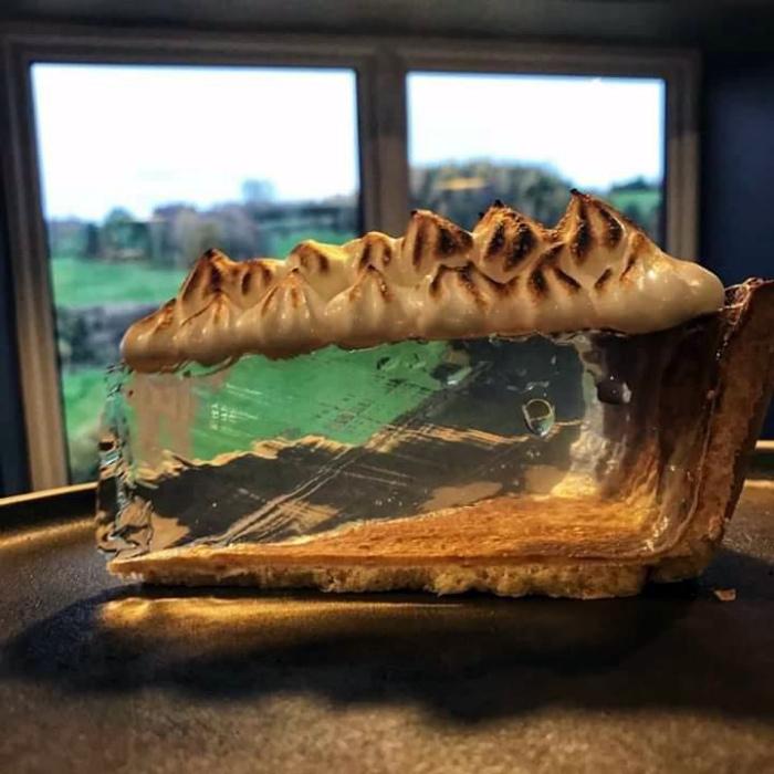 Пирог с прозрачным кремом. | Фото: 4tololo.ru.