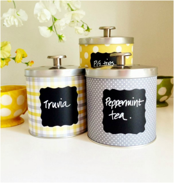 Очаровательные контейнеры для специй и чая.