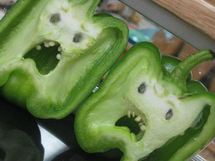 Напуганные перцы.