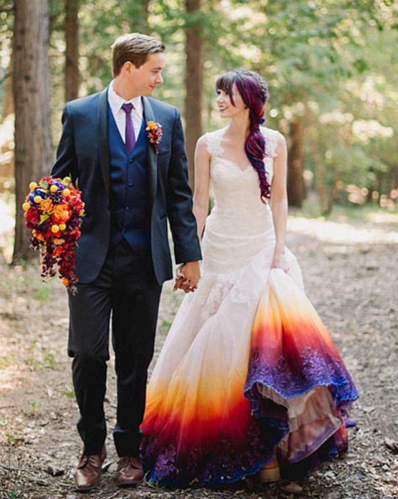 Платье в стиле омбре.