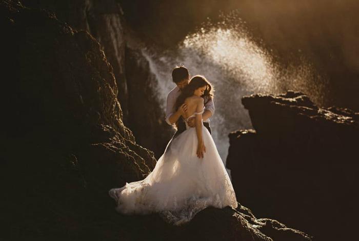 Свадьба в Пасифике, Калифорния, США.