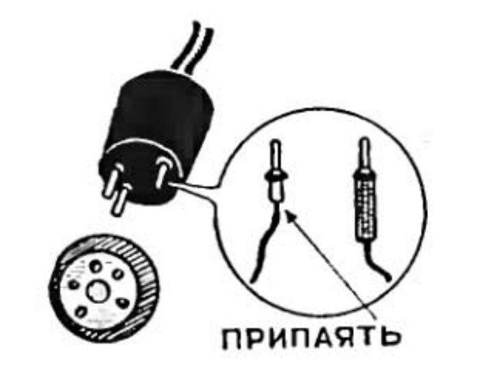 Самодельная штепсельная вилка. | Фото: Obaldela.ru.