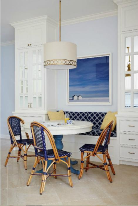 Кухонный уголок в морском стиле.