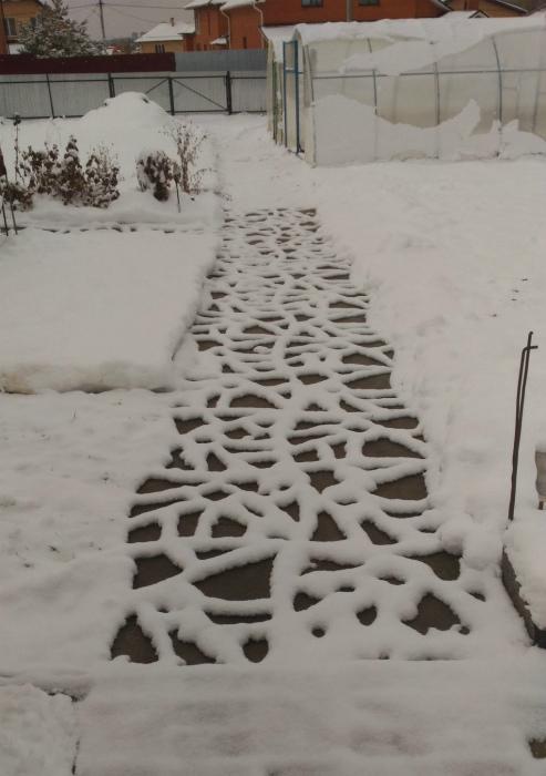 Снежный узор.