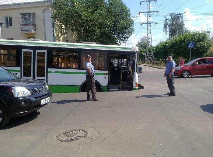 Когда дорога в буквальном смысле поглотила. | Фото: pikabu.ru.