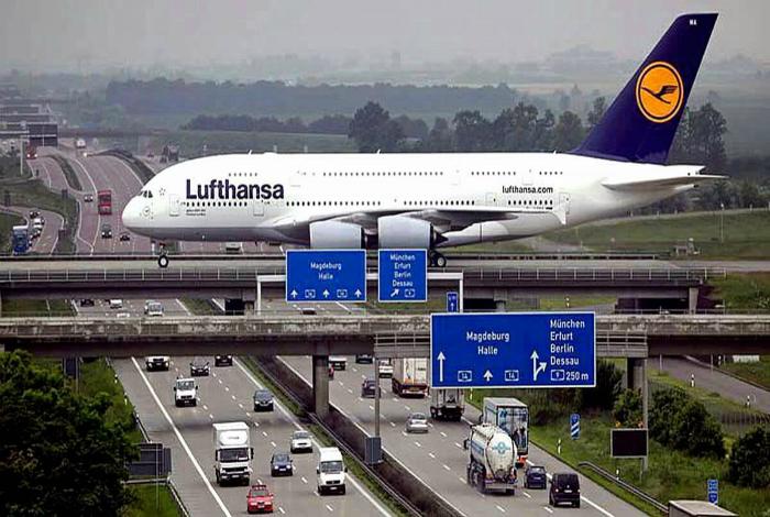 Взлетная полоса в аэропорту Лейпцига.