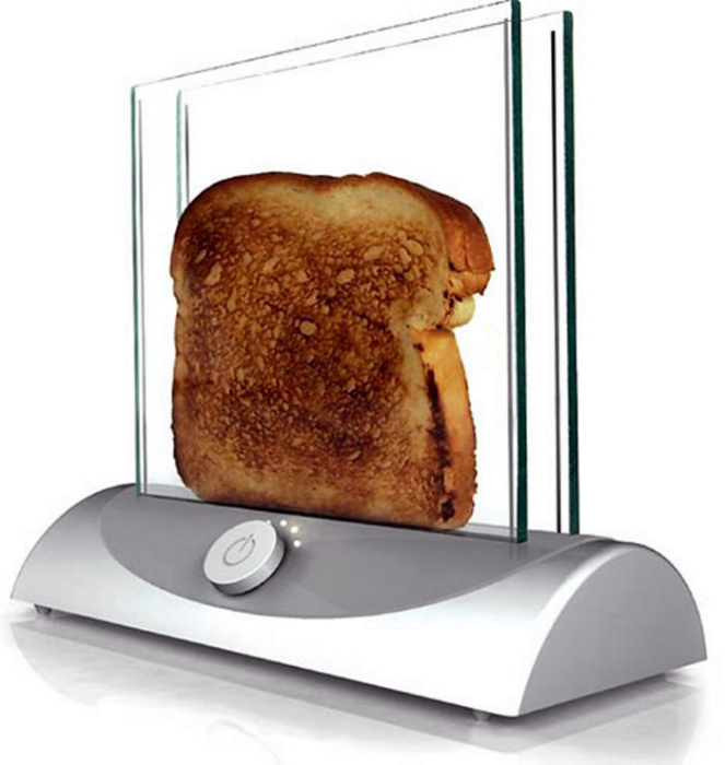 Прозрачный тостер. | Фото: CatDumb.