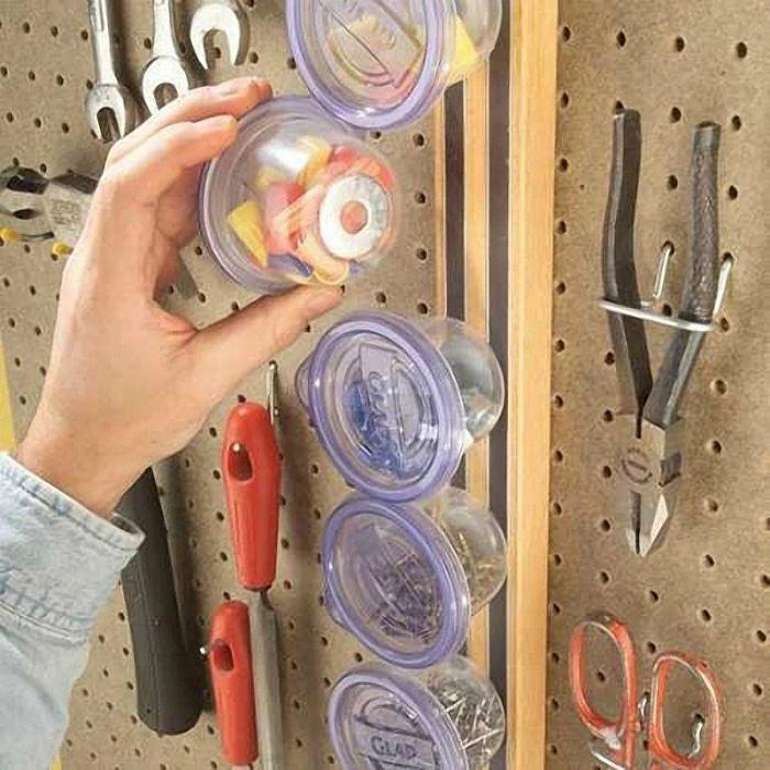 Органайзер из магнитной ленты. | Фото: Make-Self.