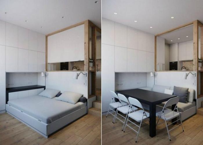 Трансформирующаяся мебель.   Фото: fancyhouse.co.