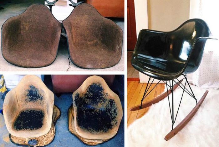 Реставрация кресла-качалки. | Фото: Megalife.