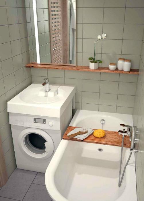 Эргономичные решения для очень маленького санузла. | Фото: Pinterest.