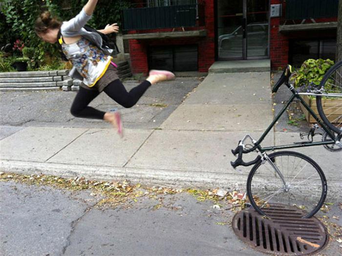 Політ з велосипеда.