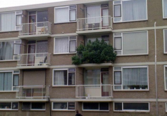 Балкон в эко-стиле.