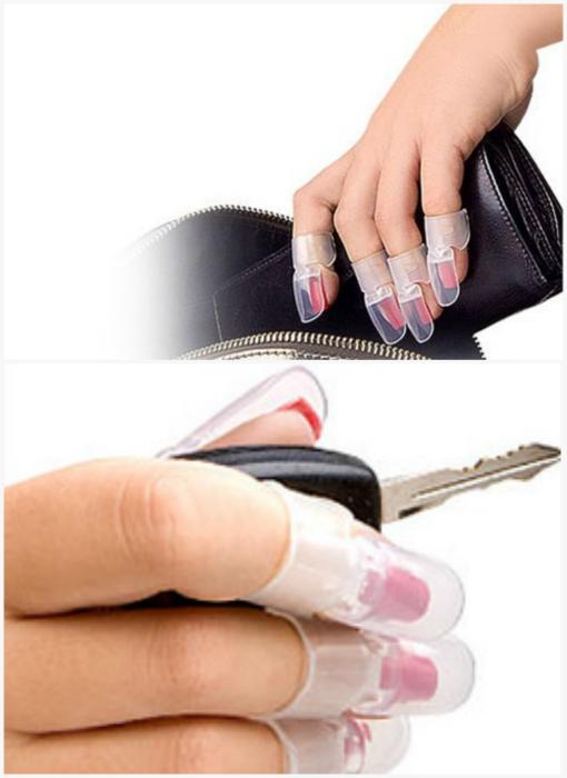 Защитные колпачки для свежего маникюра.