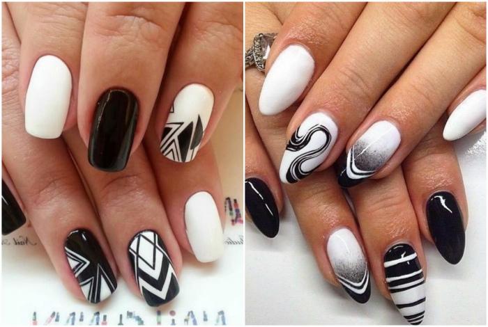 Сочетание черного и белого.