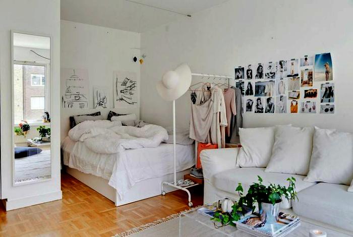 Белоснежная комната в девичьем стиле.