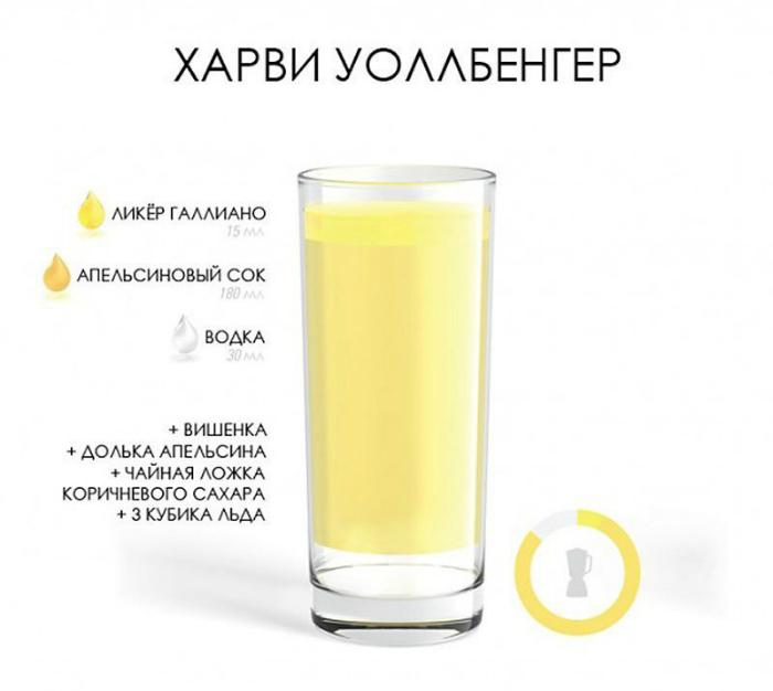Коктейль, содержащий водку и апельсиновый сок, с добавлением ликера Гальяно.