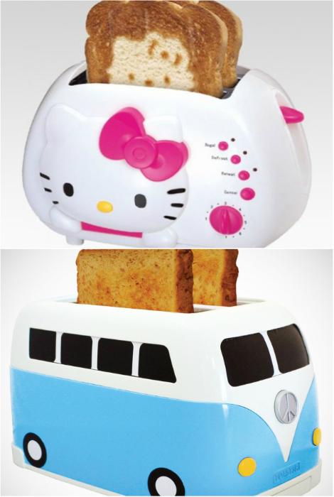 Забавные тостеры, которые порадуют и взрослых, и детей.