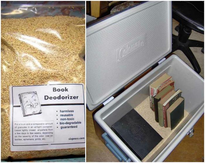 Дезодорант для книг.