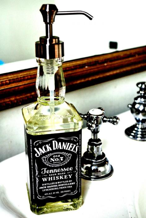 dispensador de jabón de la botella.