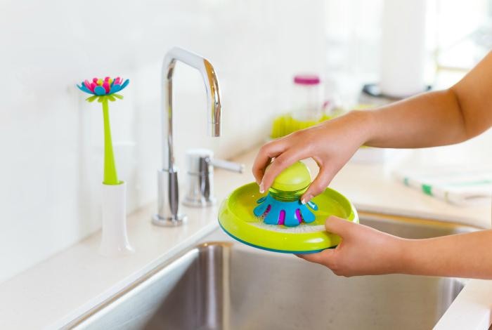 Губка для мытья посуды Boon Mini Brush.