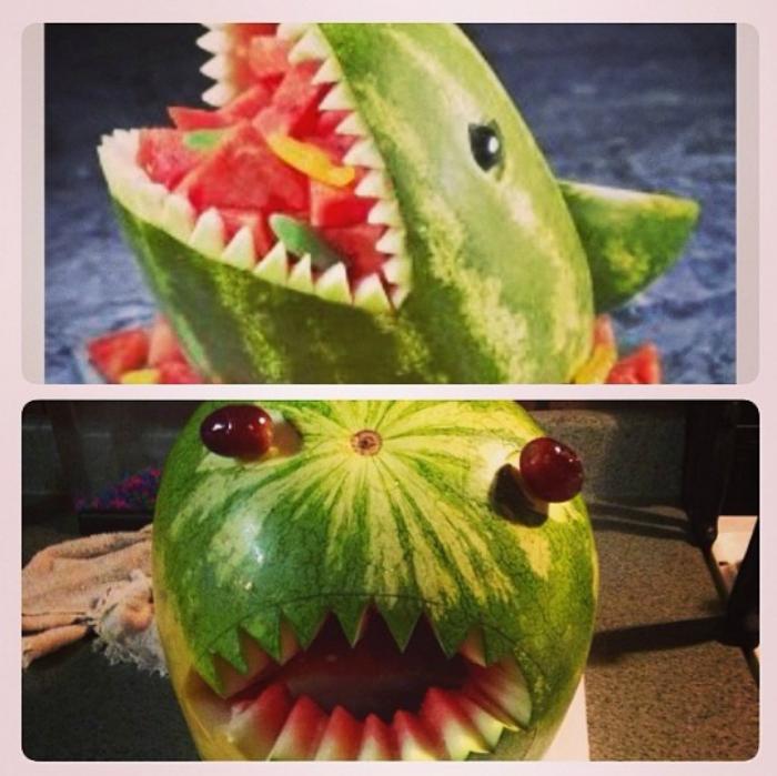 Страшная акула.