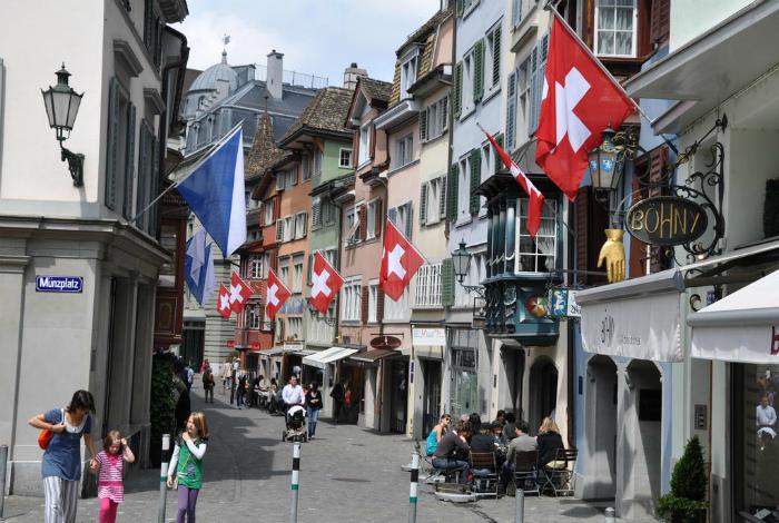 Адреса в Швейцарии.