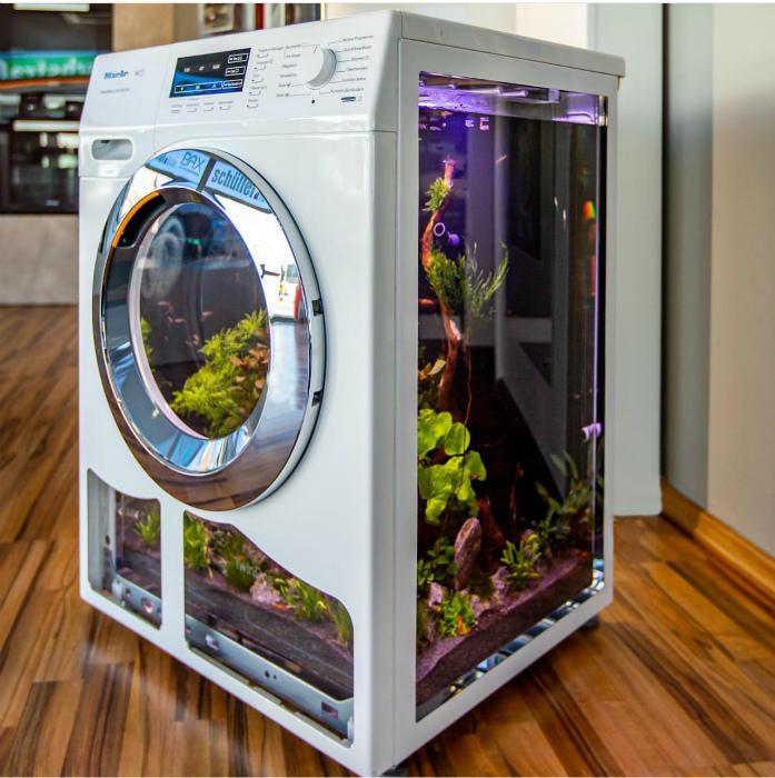 Стиральная машина-аквариум. | Фото: Gallusrostromegalus.