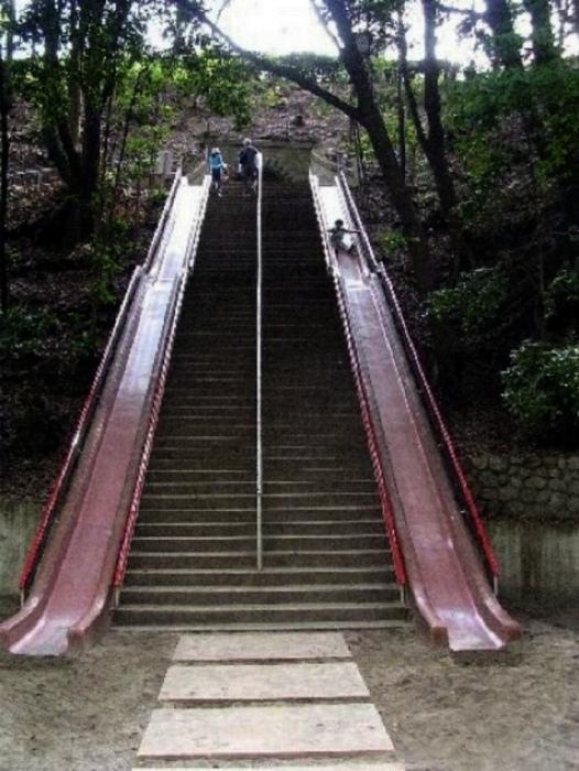 Лестница с горками. | Фото: Офигенно.
