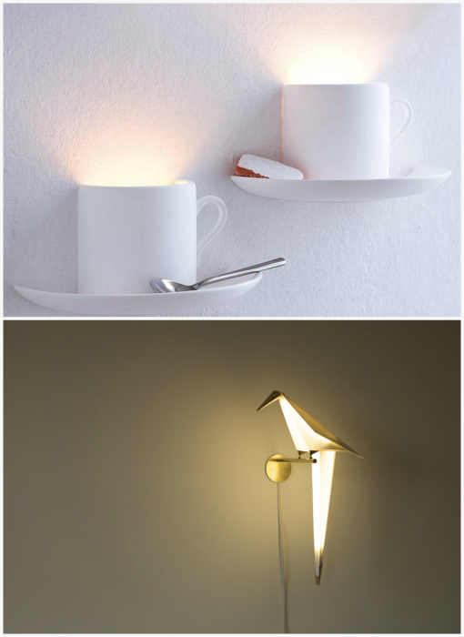 Креативные настенные светильники.